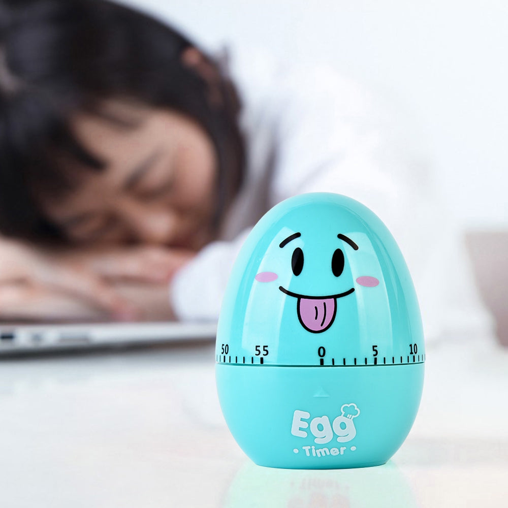 Mechanical Clockwork Egg Kitchen Timer 60-minute Smile Face