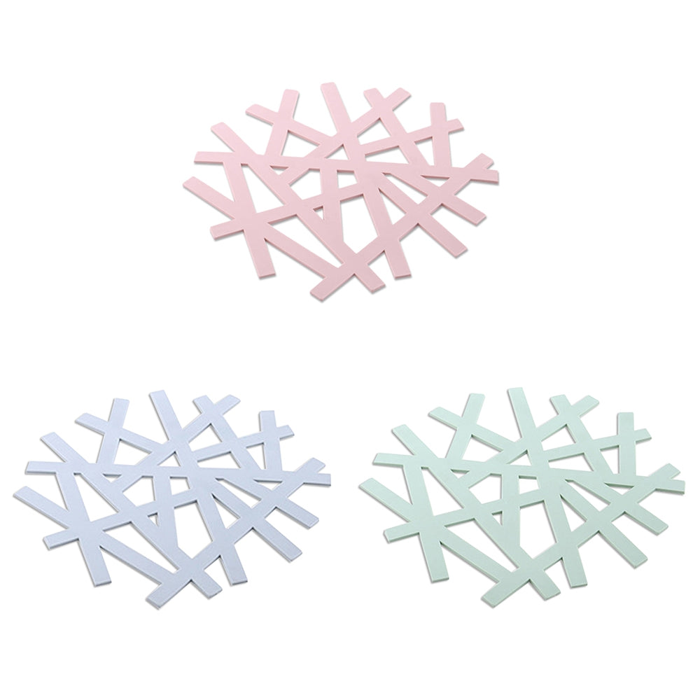 Table Insulation Pad Snowflake Heat-resistant Placemat Hollow Casserole Mat 5pcs