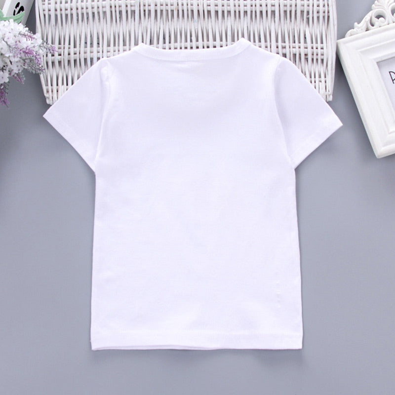 Boys 2-piece Suit T-shirt Shorts Cute Pattern Pockets Round Neck Short Sleeves