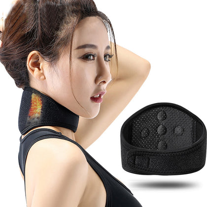 Magnet Magnetic Therapy Neck Protection Self-heating Black Dot Matrix
