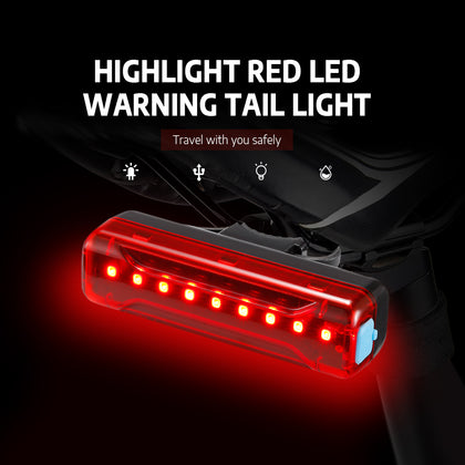 Highlight Red LED Warning Tail Light with High Elastic Silicone Base