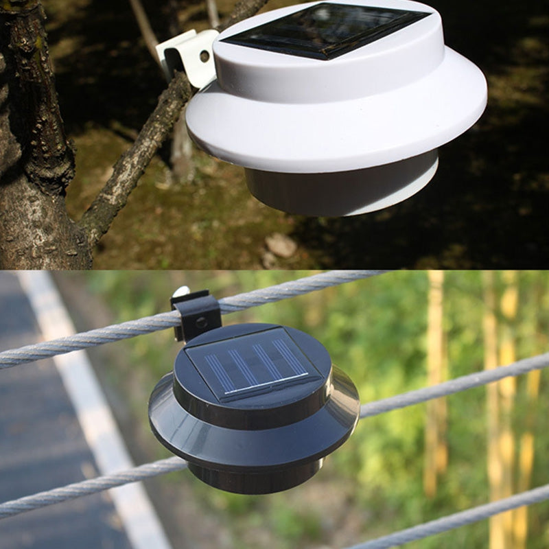 Fence Eaves Landscape Garden Solar Light Outdoor Lighting Induction Wall Lamp 2pcs