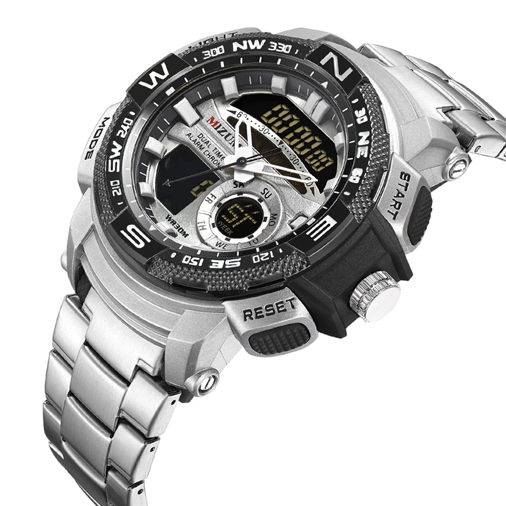 MIZUMS M8007 Men's Quartz Watch Waterproof Steel Strip