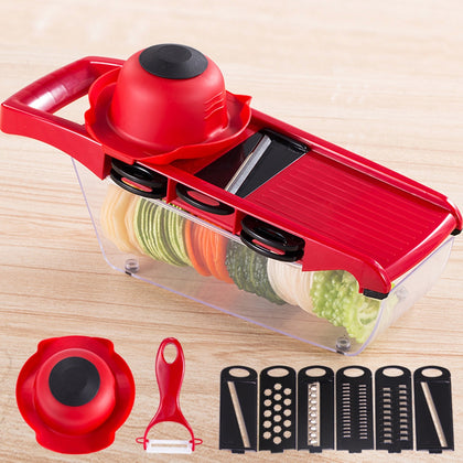 ZS - 8983 Multifunctional Vegetable Fruit Slicer Cutter Kitchen Magic Tool