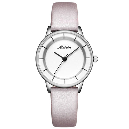 MEIBIN M1078 Ladies Quartz Watch Waterproof Simple Style Belt