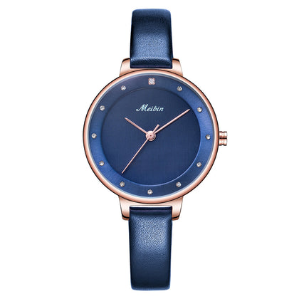 MEIBIN 1080 Ladies Quartz Watch Fashion Trend Waterproof Simple