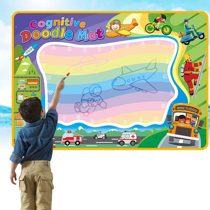 100 x 70cm Painting Cloth Cognitive Theme Graffiti Toy