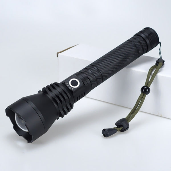 P50 Strong Photoelectric Display High Power Lamp Telescopic Zoom Waterproof LED USB Flashlight