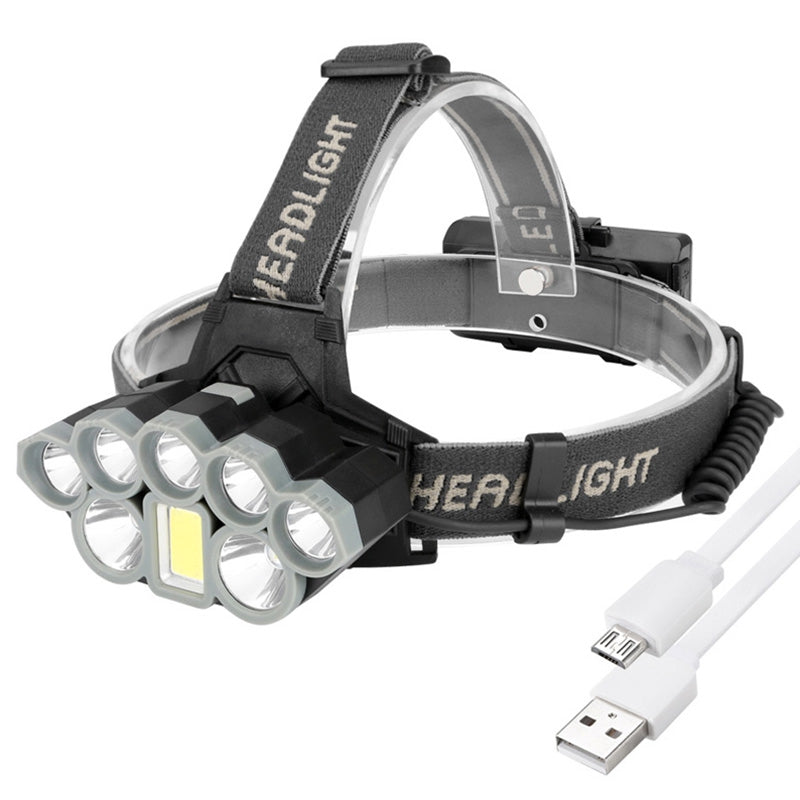 Brelong K71 USB Rechargeable LED Sensor Fishing Headlight Lightweight Sports Headlamp IPX4 Waterproof
