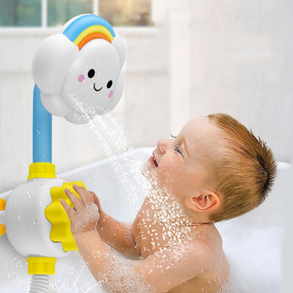 Baby Bathing Shower Cloud Rainbow Bathroom Waterplaying Toy