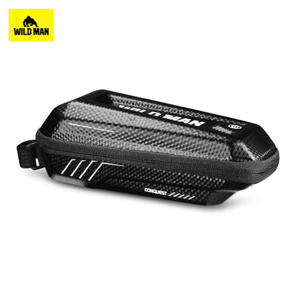 WILD MAN Bicycle Top Tube Front Beam Bag MTB Road Cycling Anti Pressure Shock Rainproof Bag Bike Accessories
