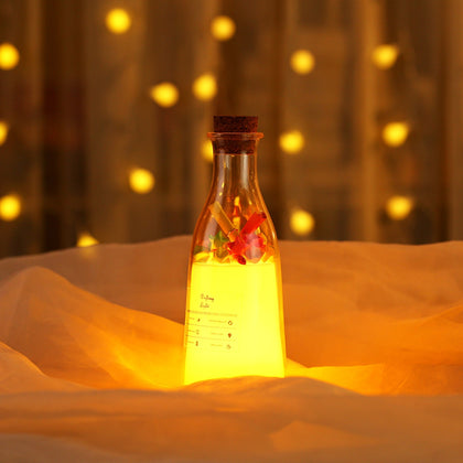 Milk Bottle Sleep Message Night Light Colorful Multi-ambient Lamp