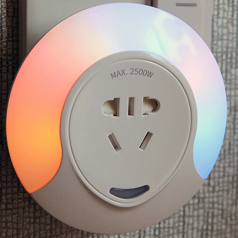 Electric Shock Protection Flame Retardant Material Downy Lamplight Light Control Colorful Night Creative Bedside Lamp Socket