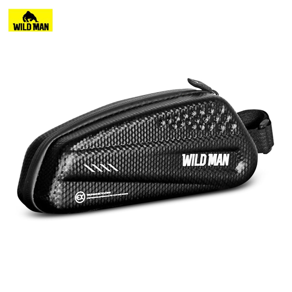 WILD MAN Bicycles Mountain Bike Tube Front Bag with Rainproof Large Capacity