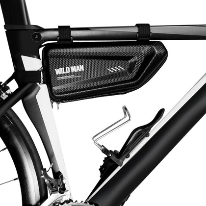 WILD MAN E4 1.5L Bicycle Front Tube Bag Water-resistant Material Smooth Zipper Useful Cycling Pouch