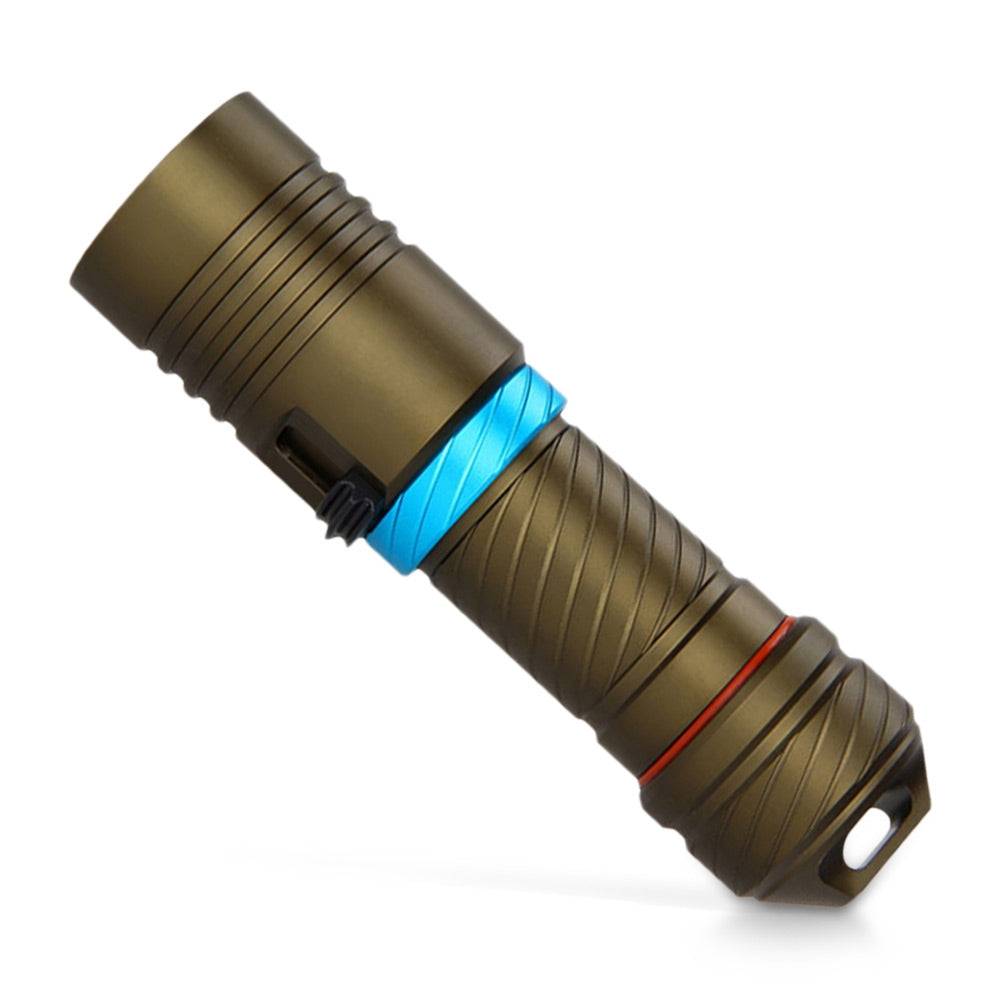 Asafee AF38 LED Flashlight Electric Torch Diving Underwater Light Lamp