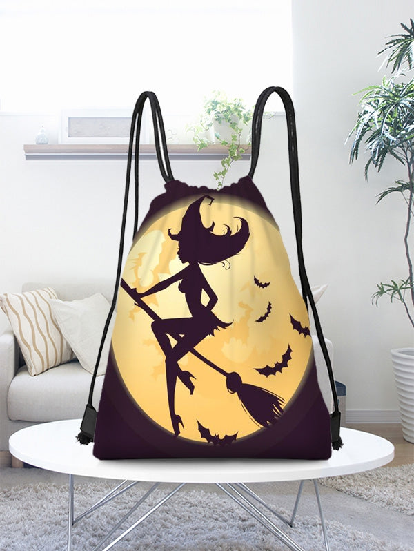Halloween Witch Bat Drawstring Candy Bag