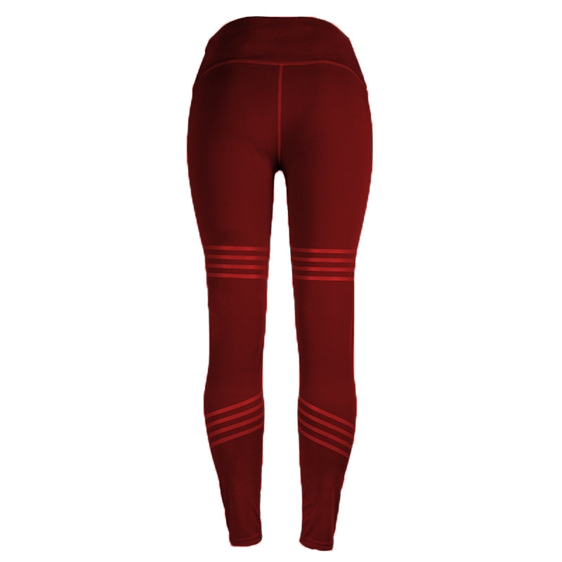 Yoga Pants Sport Leggings Running Gym Stretch Sports Solid Color Long Pants