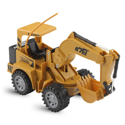 8075E 2.4G Remote Control Colorful Flash Light Simulation RC Excavator Truck Toy Gift