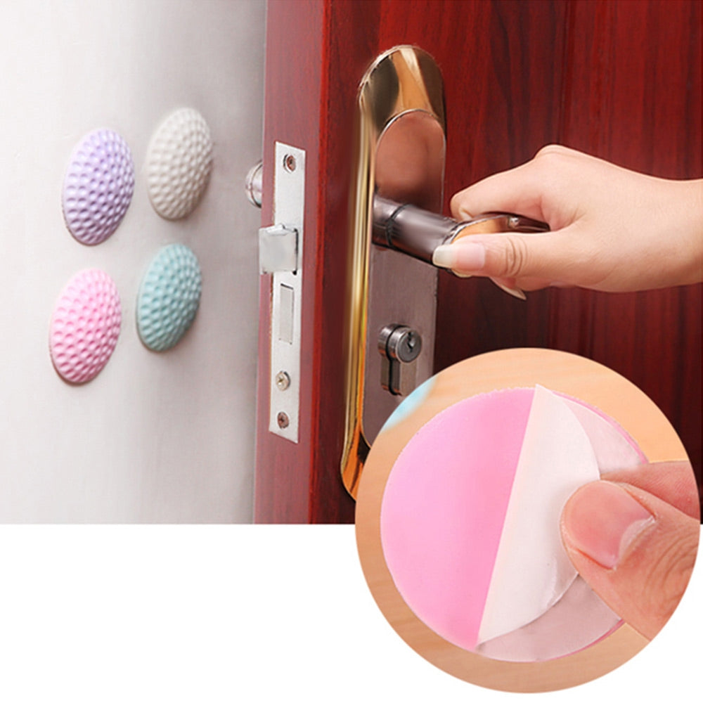 TUSUNNY AH1.001 3PCS / Set Door Rubber Anti-collision Pads Handle Stickers Buffer Wall Protectors