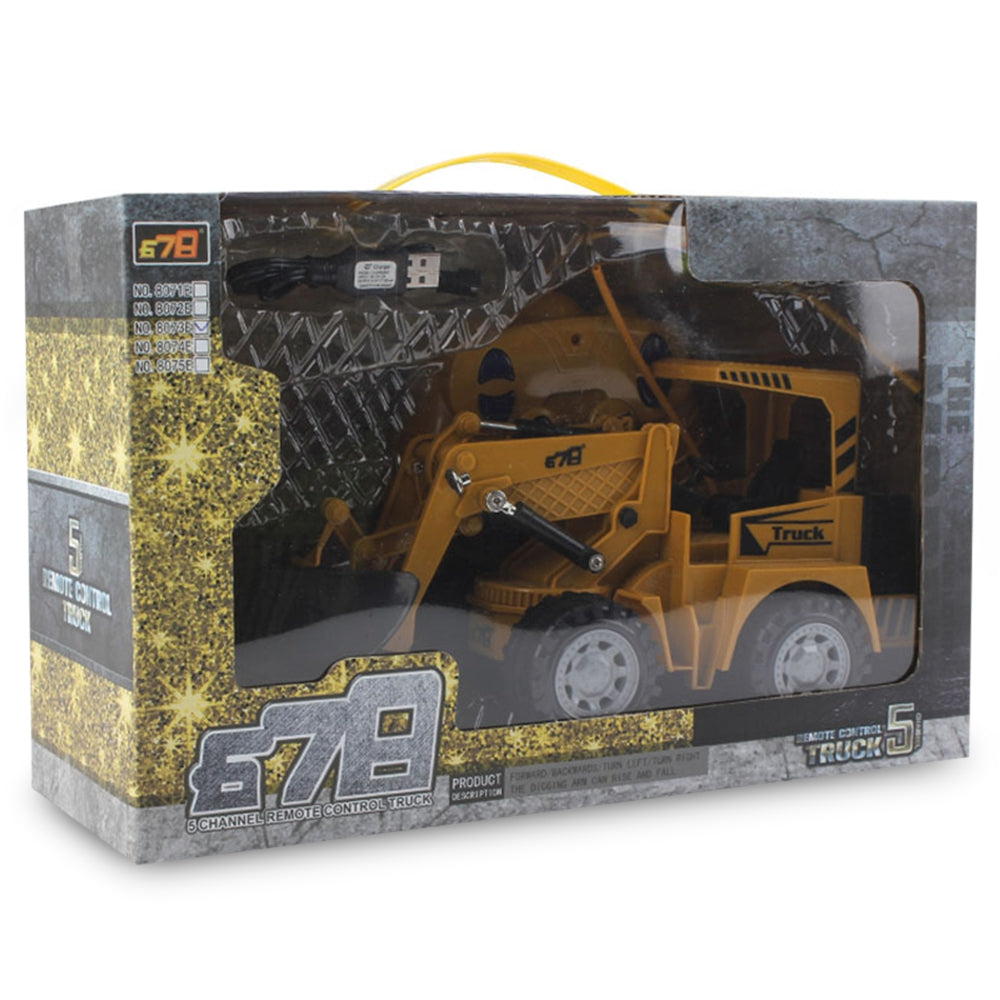 8073E 2.4G Remote Control 5-channel Simulation Open Road RC Engineering Truck Toy Gift