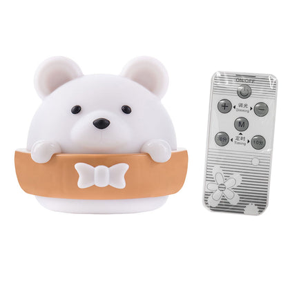 USB Charging LED Night Light Bear Stepless Dimming with Remote Control