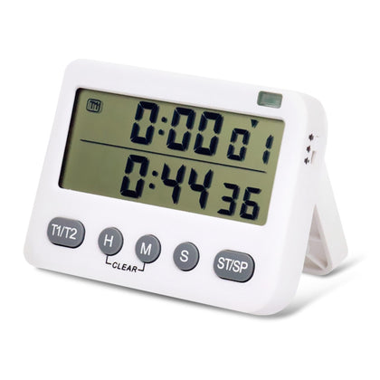 Multifunctional 12/24h LCD Digital Kitchen Electronic Timer Count-down up Alarm Clock Reminder