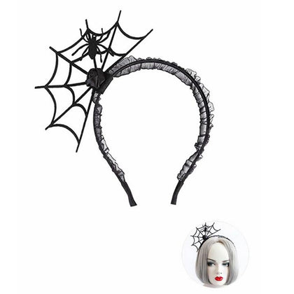 Halloween Spider Net Floral Headband