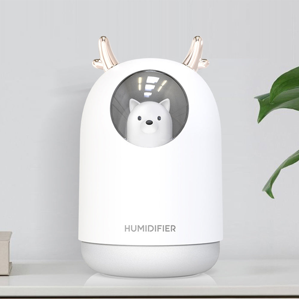 MC - 002 Mini Pet Humidifier Humidifying Moisturizing with Colorful Night Light