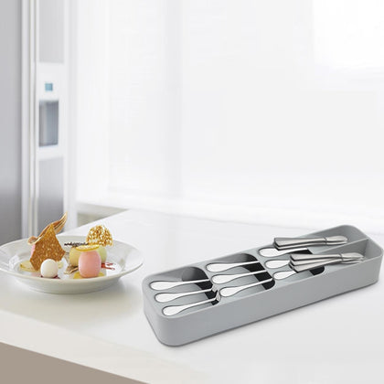 Multi-layer Kitchen Drawer Cutlery Organizer Tray Forks Knives Spoons Storage Box