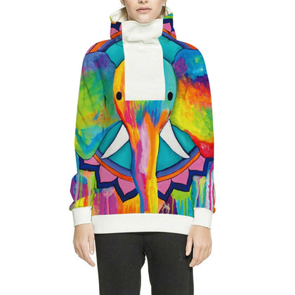Hooded Sweater Color Ink Digital Printing Long-sleeved High-necked for Lovers