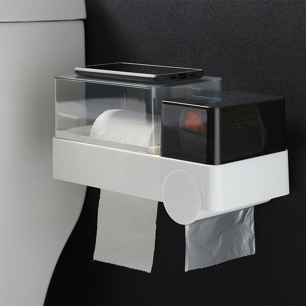 Garbage Bag Tissue Storage Box Toilet Paper Small Item Holder for Living Room Bathroom