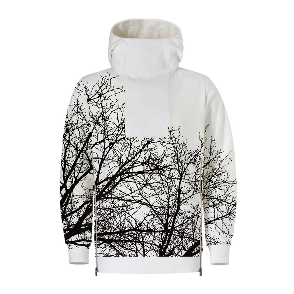 Men Pullover Hoodie Fashionable Printed Pattern Long Sleeve Tighten Cuff for Autumn