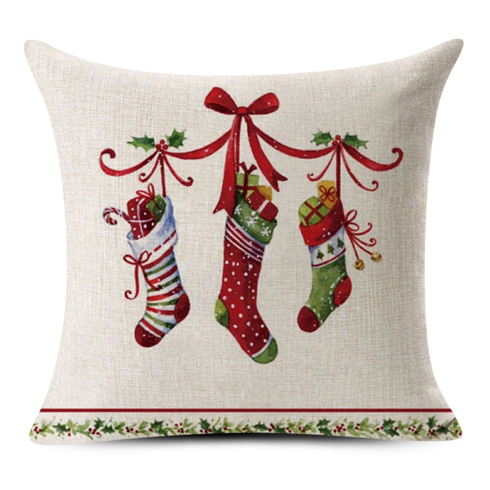 Christmas Pillow Cover School Bar Home Sofa Decoration Gift