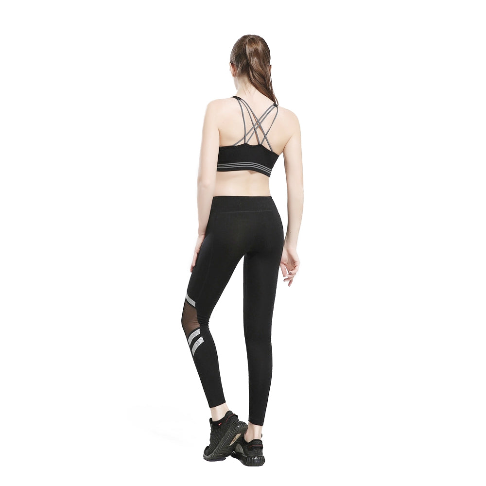 Mesh Panel See Thru Gym Running Leggings for Women
