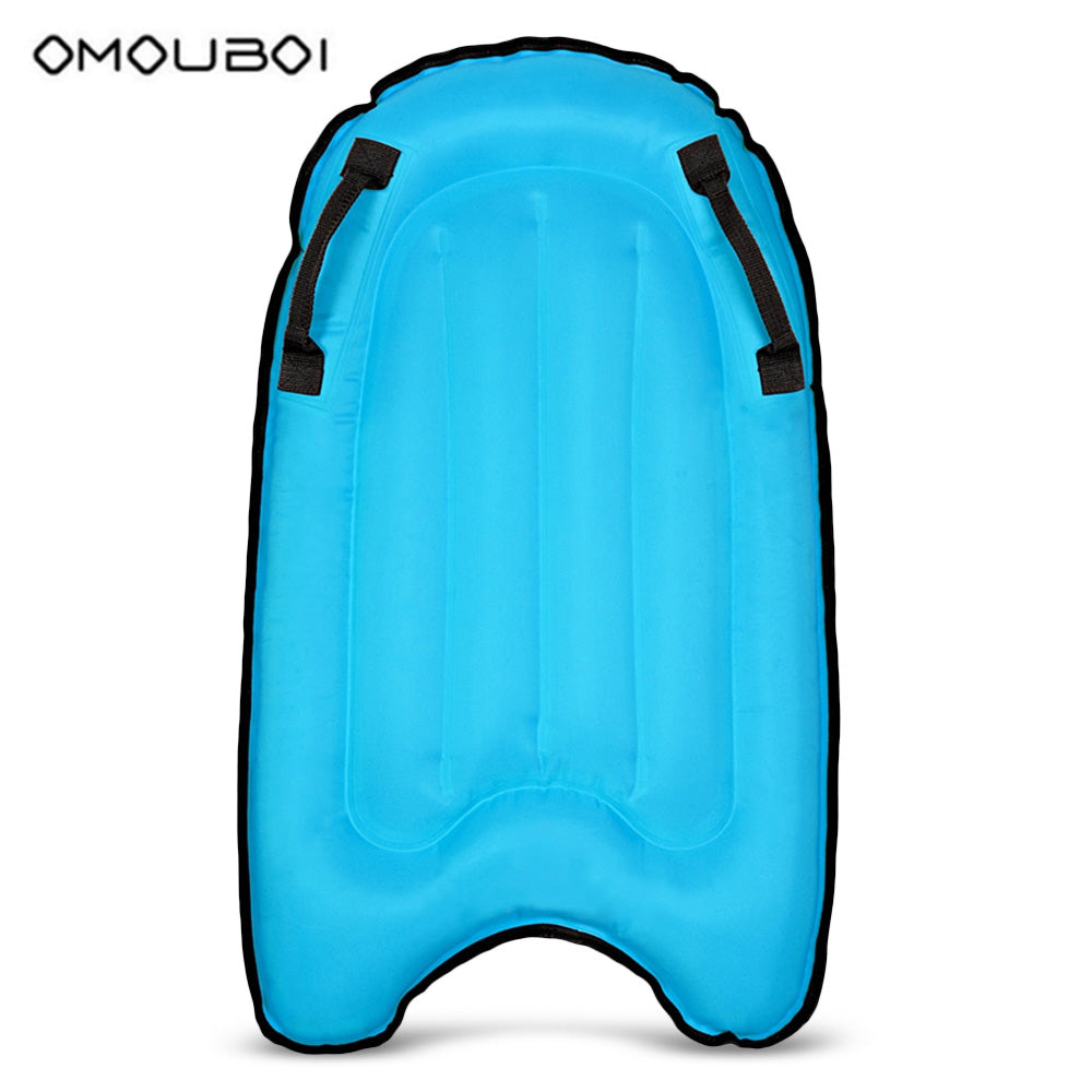 OMOUBOI Polyester Adult Inflatable Buoyancy Surfboard for Outdoor Swimming