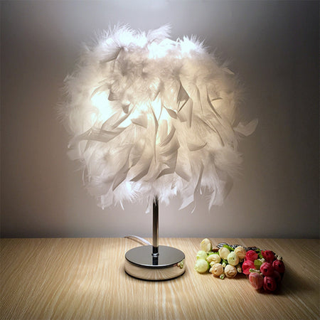 Modern Creative Feather Table Lamp for Home Decoration