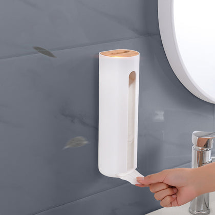 Wall-mounted Cotton Pad Holder