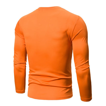 Color Blocking Long Sleeves Casual T-shirt
