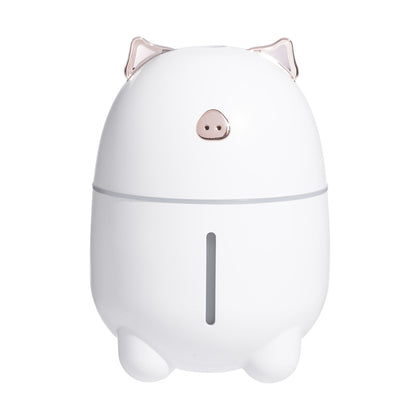230ml Lovely Pig Ultrasonic Humidifier with Colorful Mood Light