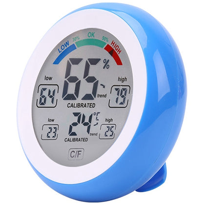 Multifunctional Indoor Temperature and Humidity Meter LCD Electronic Touch Thermometer