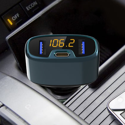 C52S Car FM Radio Transmitter Wireless Dual USB Bluetooth MP3 Player