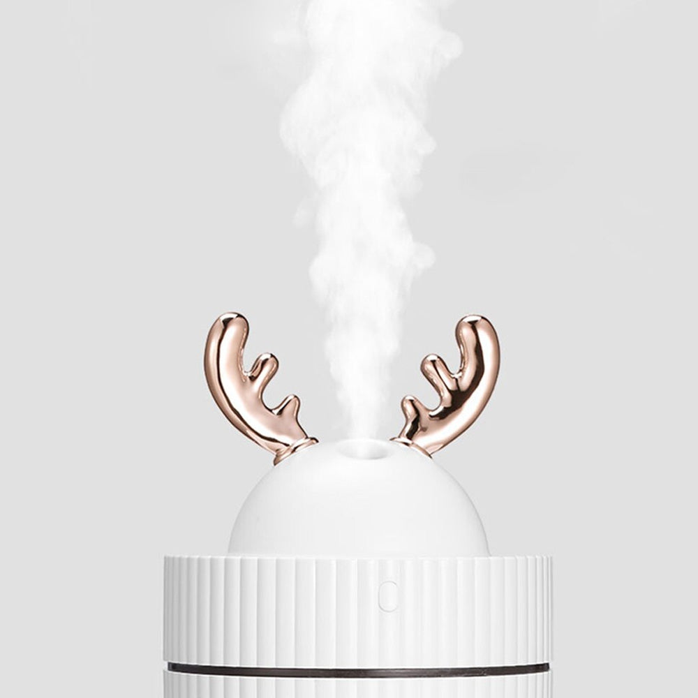 Mini Elk Horn 260ml USB Ultrasonic Air Humidifier Cool Mist with Night Light