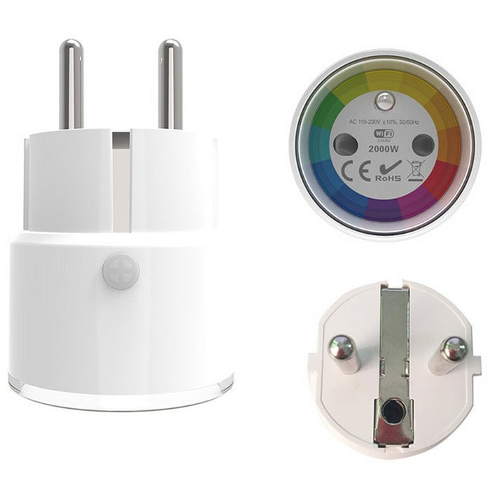 10A 2000W Smart WiFi EU Socket Energy Monitoring Plug