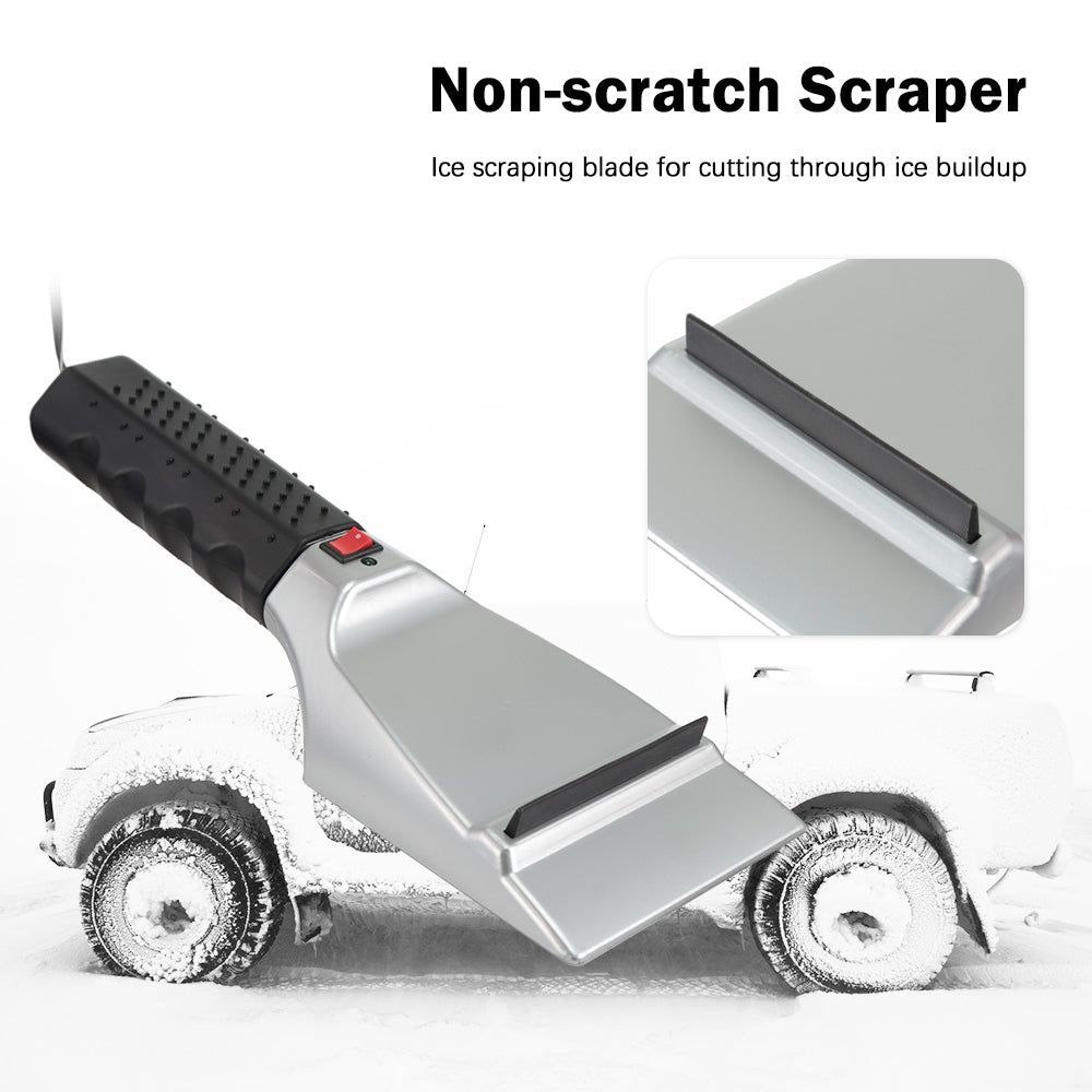 12V Heated Ice Scraper for Car Window Windscreen