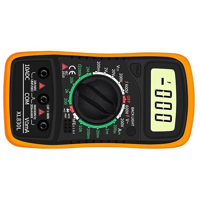 XL830L Portable High Precision Digital Multimeter with Backlight Electrician Multifunction Meter