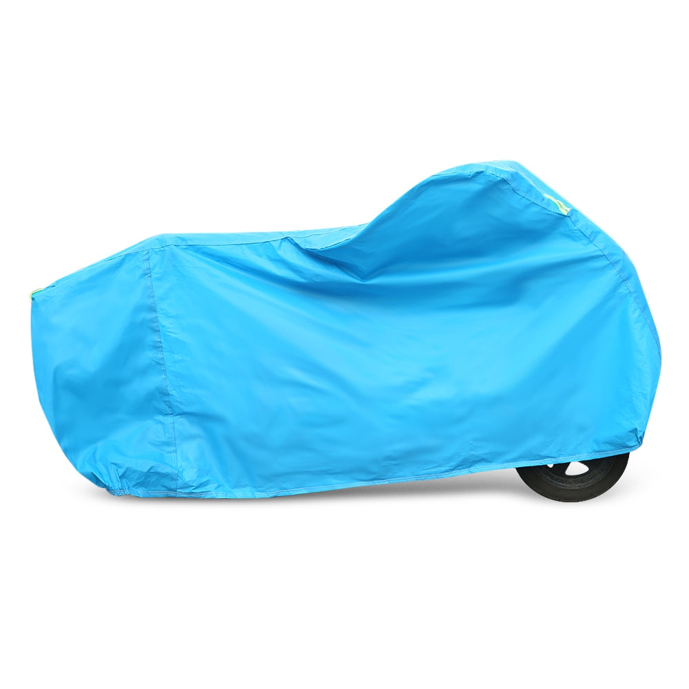 Motorcycle Cover Thickened PEVA Fine Cotton Reinforced Stitches Durable Protector for All Seasons
