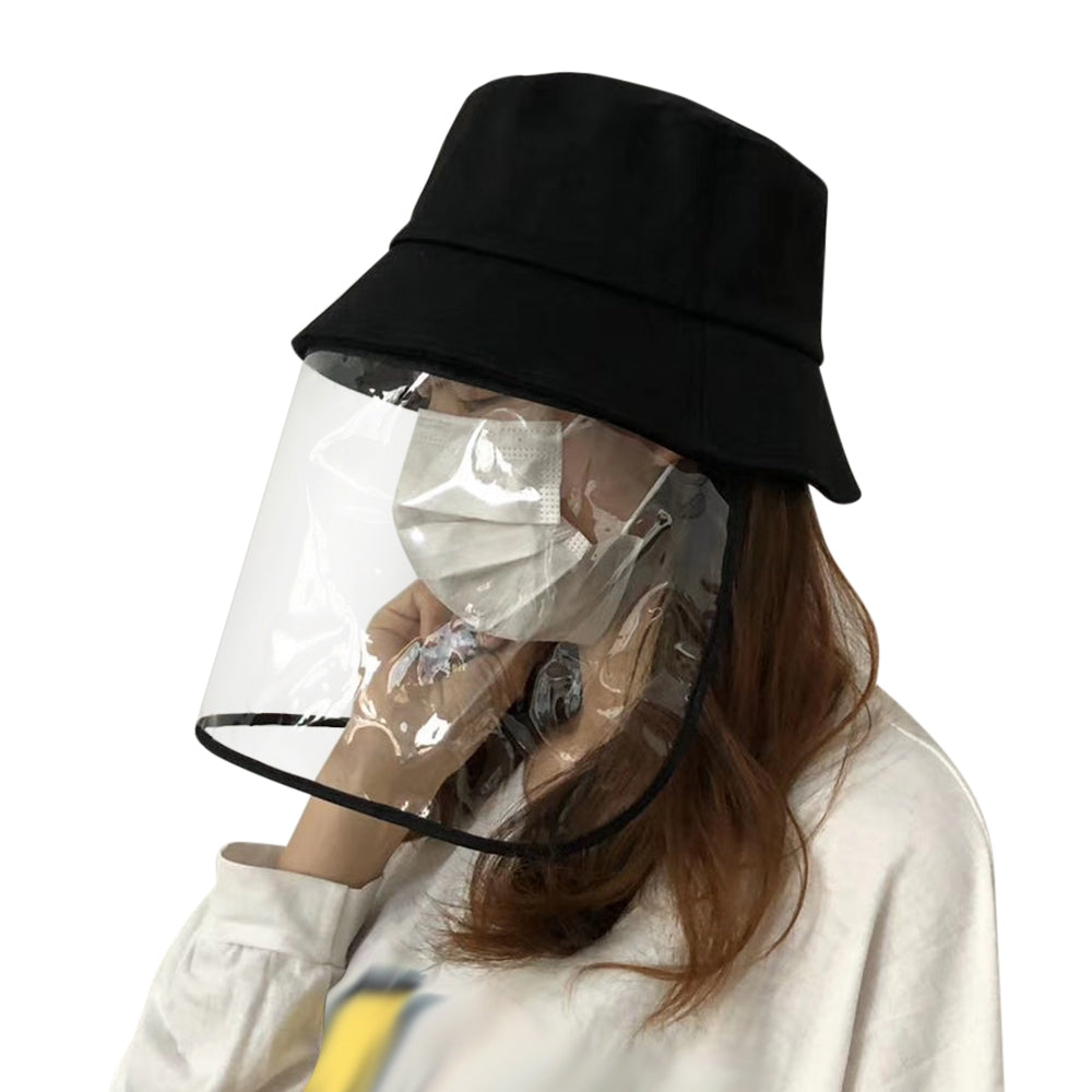 Anti-saliva Transparent Protective Hat Anti-fog Cap Isolation Removable Mask Cover Face