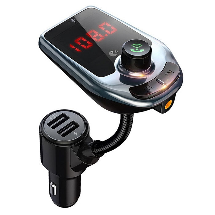 D4 Bluetooth Car MP3 Player Hands-free FM Transmitter Dual-port Car Charger