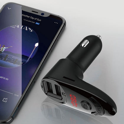 C8 Multi-function Car Mp3 Player Cigarette Lighter Dual Usb Car Charger
